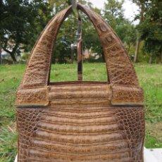 Vintage: BOLSO PIEL DE COCODRILO . Lote 175527930