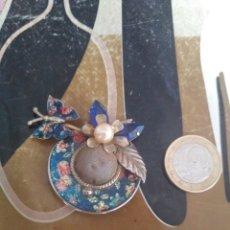 Vintage: BROCHE DE CHAPA MARIPOSA GORRO. Lote 175582378