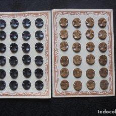 Vintage: LOTE 68 BOTONES VINTAGE EN CARTONES ORIGINALES. Lote 175721743