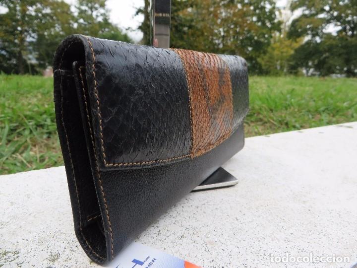 Vintage: cartera/billetera Piel de salmon y piel - Foto 2 - 175810282