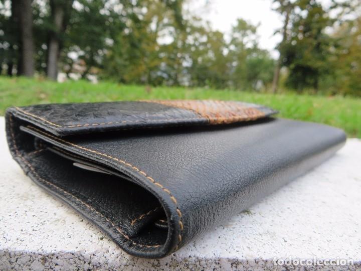 Vintage: cartera/billetera Piel de salmon y piel - Foto 3 - 175810282
