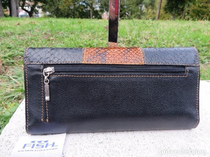 Vintage: cartera/billetera Piel de salmon y piel - Foto 4 - 175810282