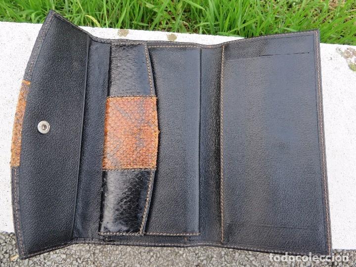 Vintage: cartera/billetera Piel de salmon y piel - Foto 5 - 175810282