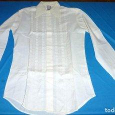 Vintage: ANTIGUA CAMISA BORDADA - CONFECCIONES GALA GIJON - ESPAÑA.. Lote 175840062