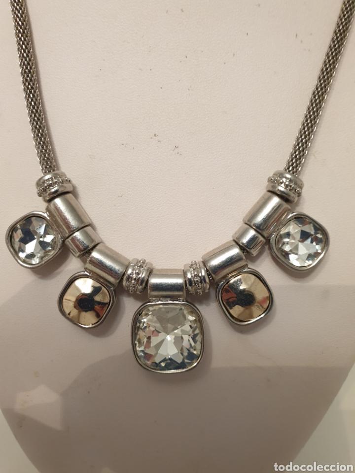 Vintage: Excelente gargantilla rodiada con cristales de diseño - Foto 2 - 176216909