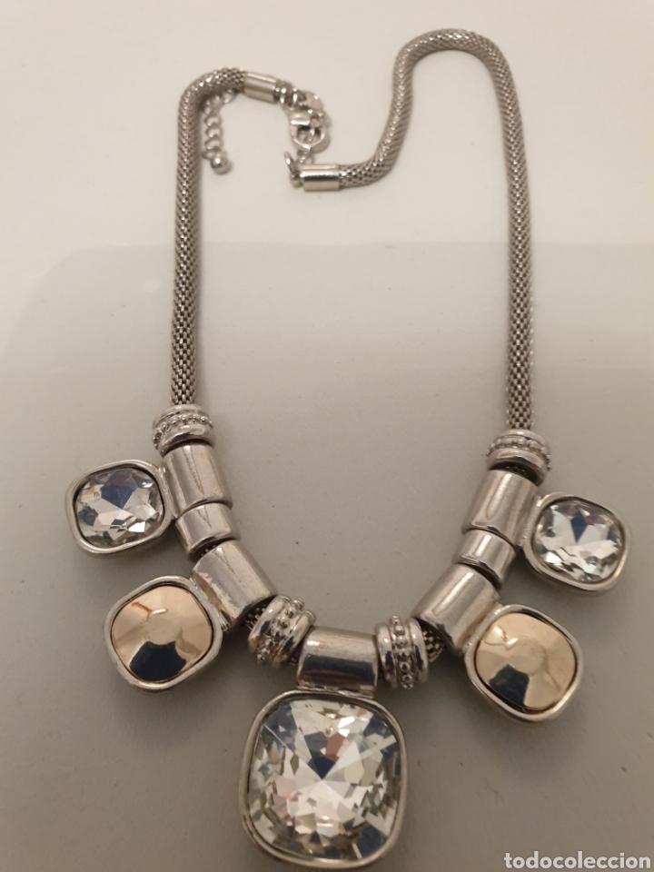 Vintage: Excelente gargantilla rodiada con cristales de diseño - Foto 4 - 176216909
