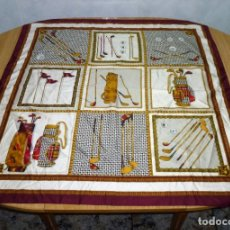 Vintage: PAÑUELO DE SEDA CON MOTIVOS DE GOLF.. Lote 176394333