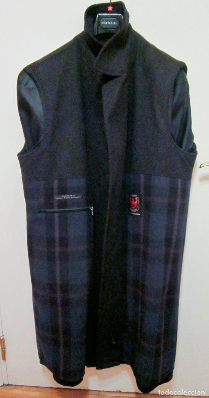 Vintage: Abrigo Loden caballero. Color azul oscuro. Años 90. Como nuevo. - Foto 3 - 176439037