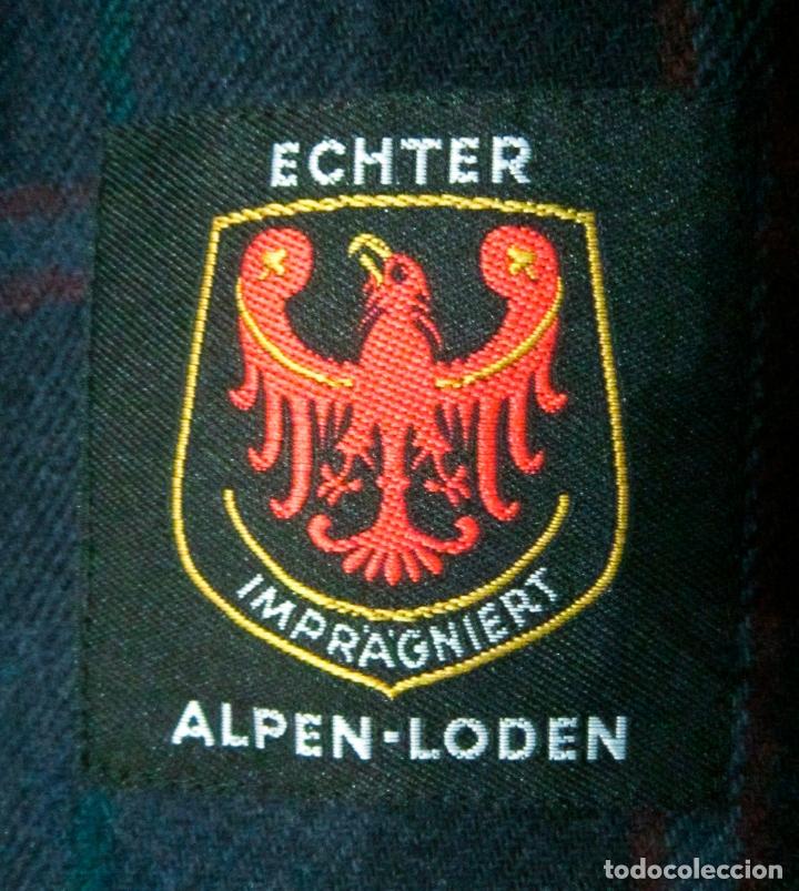 Vintage: Abrigo Loden caballero. Color azul oscuro. Años 90. Como nuevo. - Foto 6 - 176439037