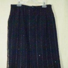 Vintage: FALDA EN COLOR NEGRO CON LENTEJUELAS - LINEA FRESCA.. Lote 177016707