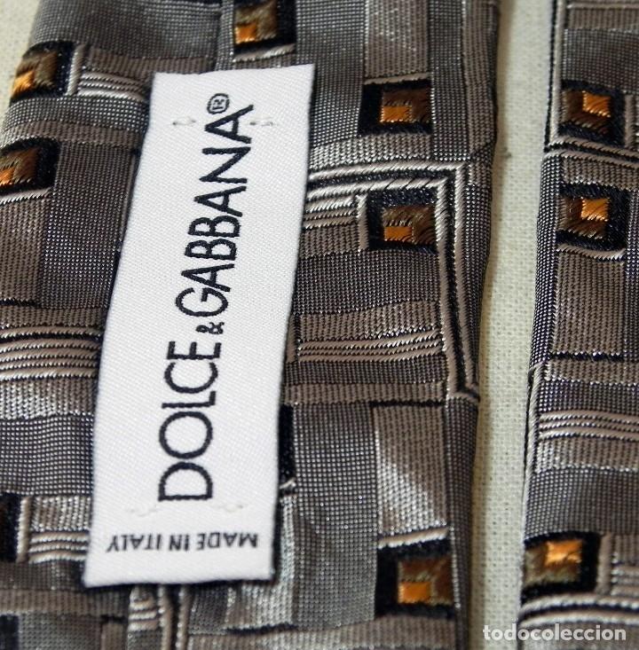 Vintage: Corbata Seda Natural DOLCE GABBANA Gris plata Vintage - Foto 6 - 177596885
