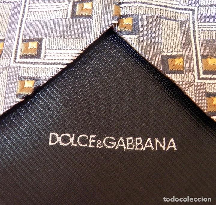 Vintage: Corbata Seda Natural DOLCE GABBANA Gris plata Vintage - Foto 9 - 177596885