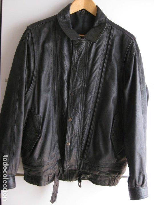 Vintage: Antigua chaqueta de piel. Años 80. - Foto 6 - 177833358