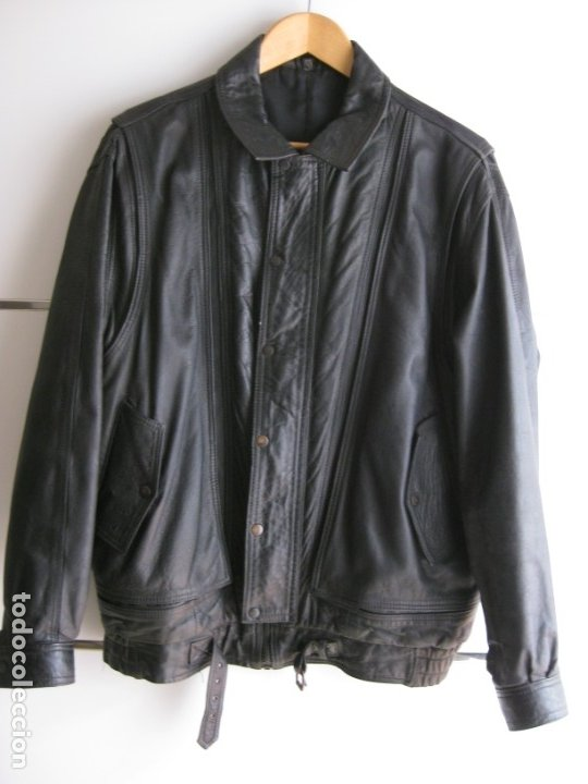 Vintage: Antigua chaqueta de piel. Años 80. - Foto 11 - 177833358