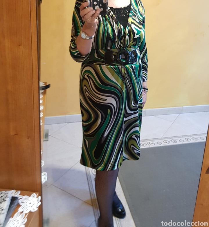 VESTIDO DE PUNTO TALLA 44 (Vintage - Moda - Mujer)