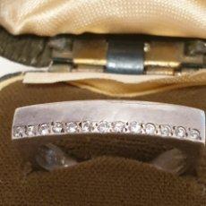 Vintage: EXCELENTE ANILLO DE PLATA DE LEY 925 CON CIRCONIAS. Lote 179341616