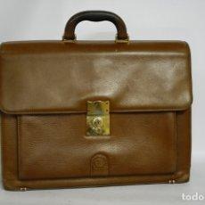Vintage: MALETIN DE PIEL CUERO LOEWE. MALETIN EJECUTIVO. PORTADOCUMENTOS PORTAPELES ORIGINAL. . Lote 180388468