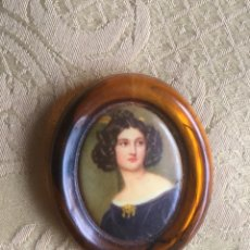 Vintage: BROCHE VINTAGE RETRATÓ DE MUJER AÑOS 60. Lote 182690128