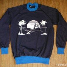 Vintage: SUDADERA SURFING PALMERAS SOL BEACH SWEATSHIRT VINTAGE RETRO AÑOS 80. Lote 182710813