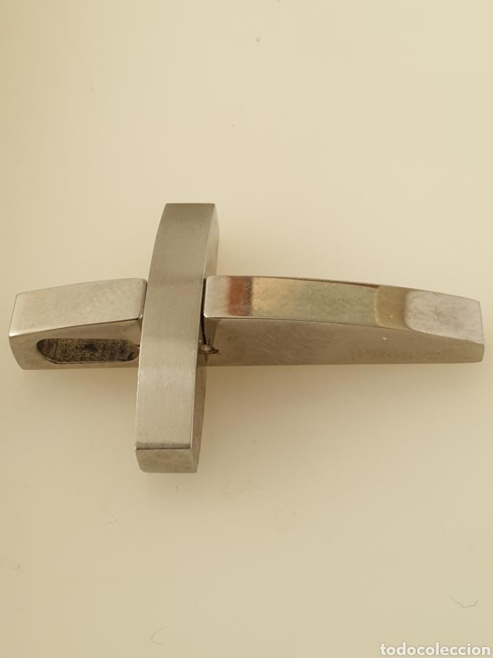 Vintage: Cruz vintage de acero inoxidable - Foto 3 - 182950578