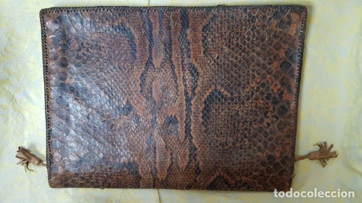 Vintage: portafolios de piel de serpiente natural, cartera - Foto 2 - 183419251