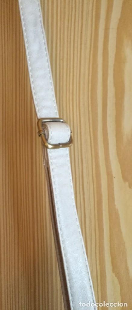 Vintage: Bolso bandolera polipiel blanco crudo / beige claro MSK - 20cm x 25cm x 8cm - Foto 8 - 183769152