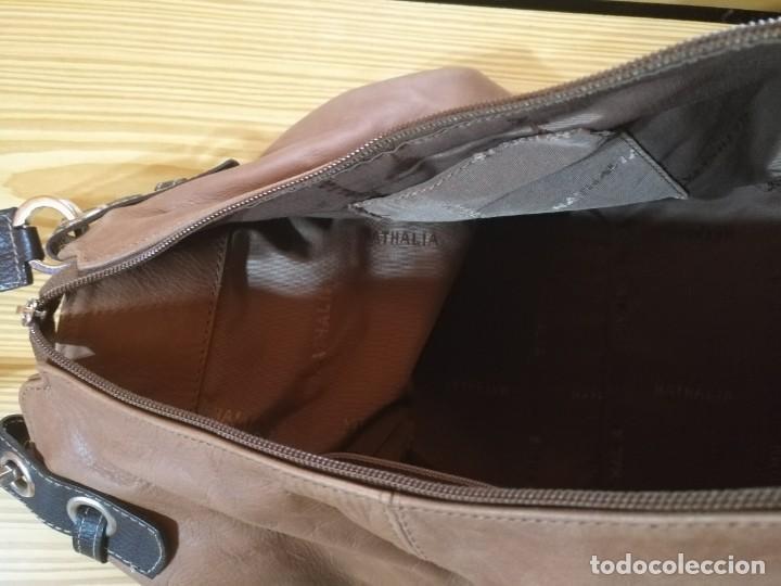 Vintage: Bolso mano NATHALIA - Original diseño piel dos marrones - cierre cremallera - Ver fotografías - Foto 5 - 183797115