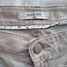 Vintage: PANTALÓN AMICHI BASIC TALLA 46 BEIGE. Lote 184016103