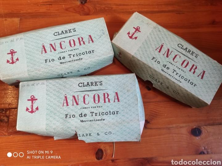 OVILLOS DE PERLÉ ÁNCORA (Vintage - Moda - Complementos)