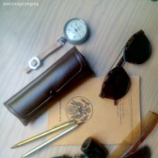 Vintage: LOTE GAFAS, PIPA Y ACCESORIOS UNIFORME ESTADOS UNIDOS SEGUNDA GUERRA MUNDIAL. Lote 182696321