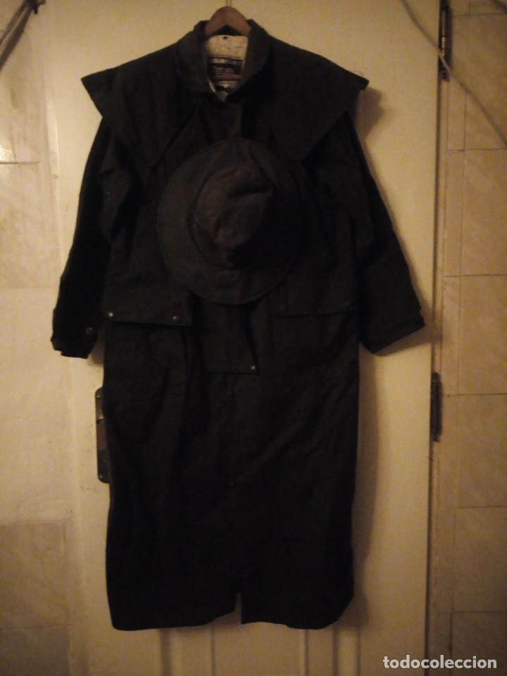 Vintage: abrigo gaban Driza Bone Riding Rainlover Weatherall Short Coats,size xl 7,con gorro a juego,vintage - Foto 2 - 184666297