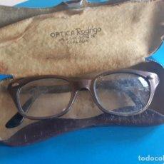 Vintage: GAFAS DE MUJER VINTAGE, GRADUADAS, CON FUNDA DE METAL. Lote 184920570
