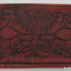 Vintage: CARTERA MONEDERO DE PIEL AÑOS 70 - PINTADA A MANO. Lote 185300947