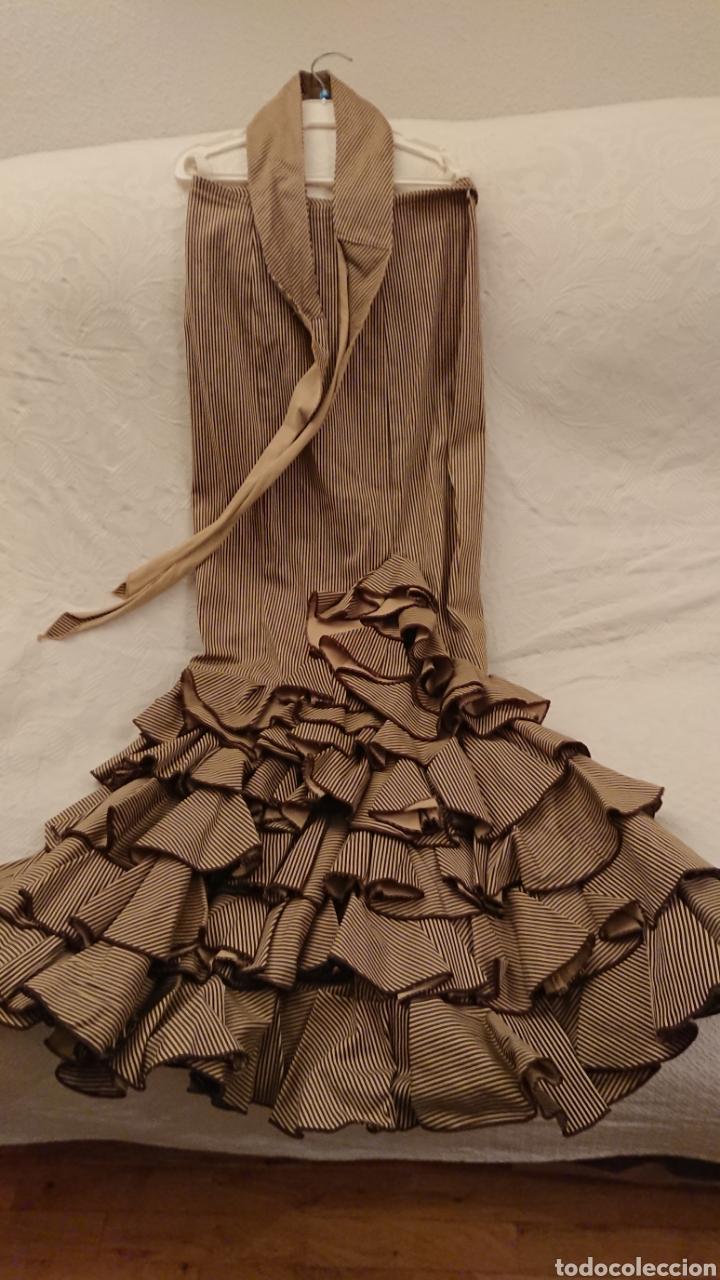 TRAJE FLAMENCA, 38 ORO BLANCO (Vintage - Moda - Complementos)