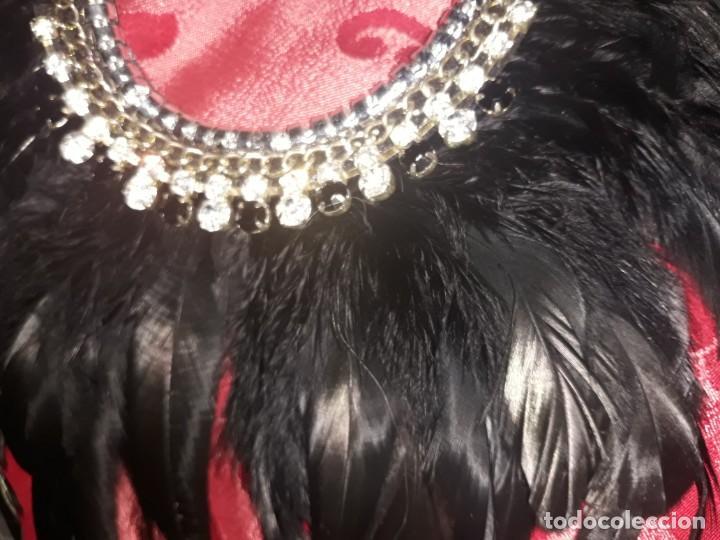 Vintage: Collar plumas negro vintage - Foto 3 - 185895891