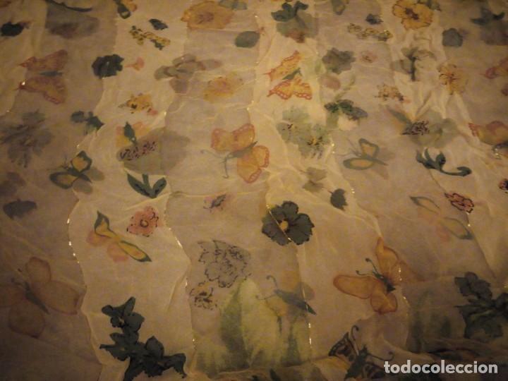 Vintage: Precioso pañuelo con motivo mariposas y transparencias.viscosa - Foto 4 - 186492855