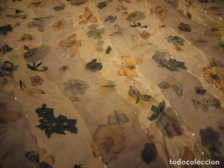 Vintage: Precioso pañuelo con motivo mariposas y transparencias.viscosa - Foto 5 - 186492855