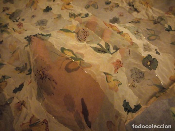 Vintage: Precioso pañuelo con motivo mariposas y transparencias.viscosa - Foto 6 - 186492855