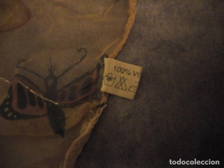 Vintage: Precioso pañuelo con motivo mariposas y transparencias.viscosa - Foto 8 - 186492855