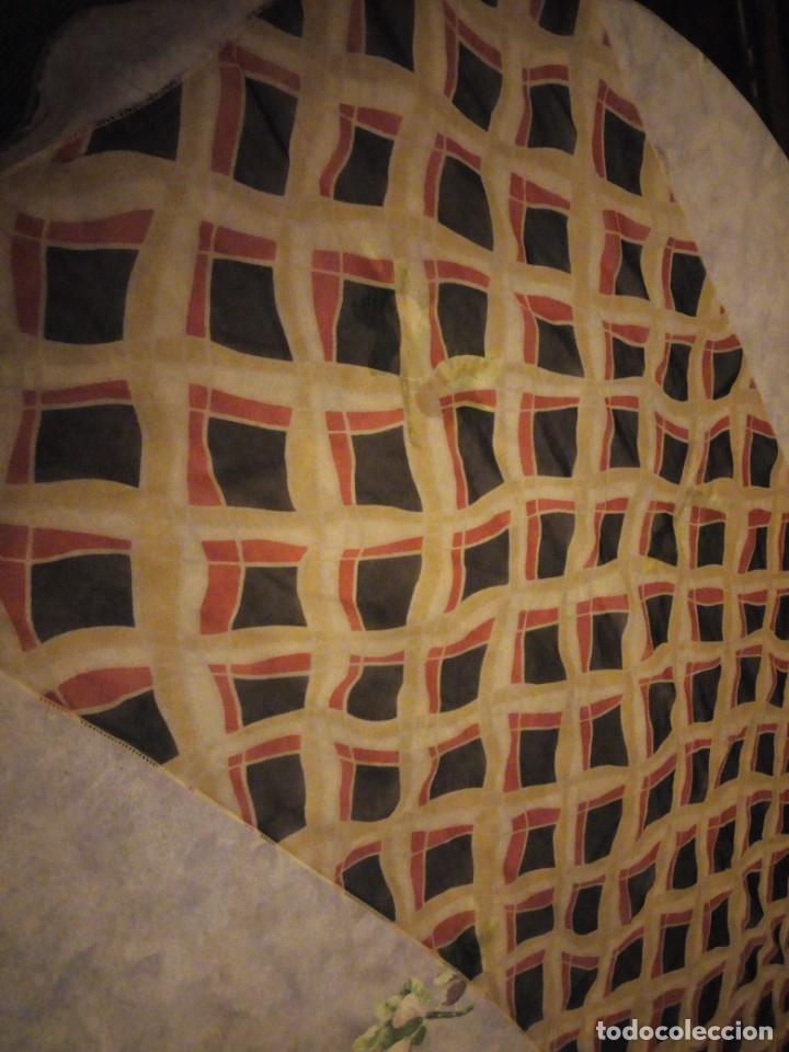 Vintage: Precioso pañuelo bufanda viscosa 100% ,estampado rombos,vintage - Foto 2 - 186509210