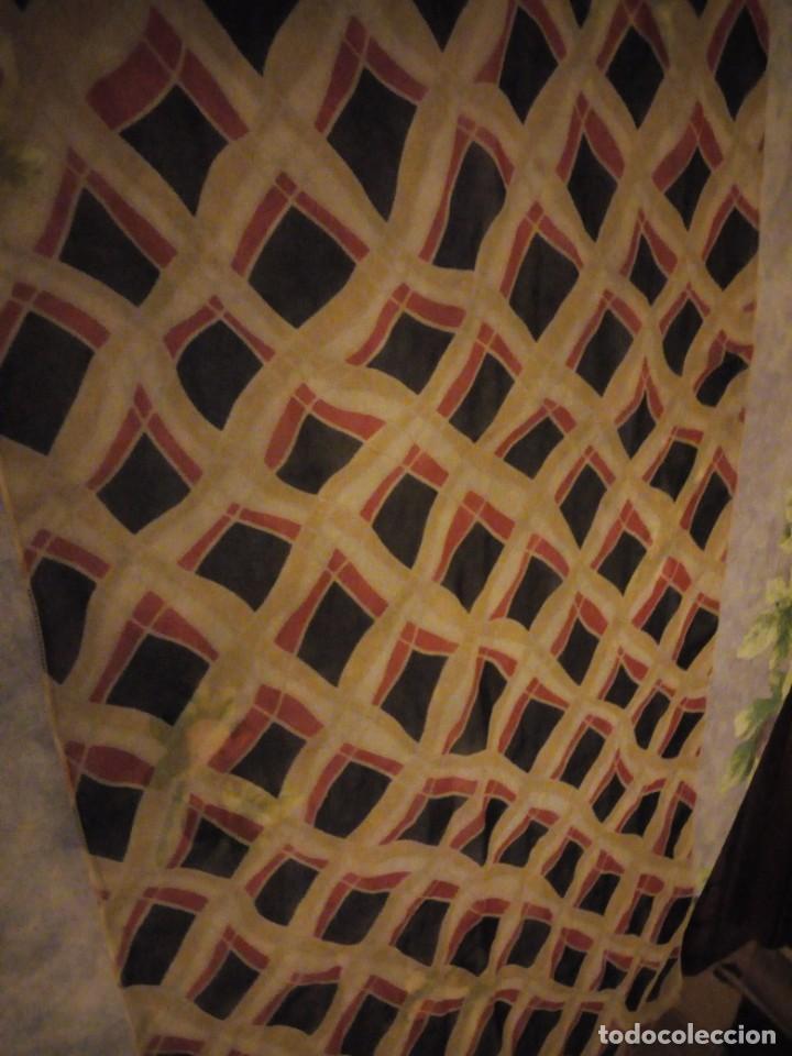 Vintage: Precioso pañuelo bufanda viscosa 100% ,estampado rombos,vintage - Foto 3 - 186509210