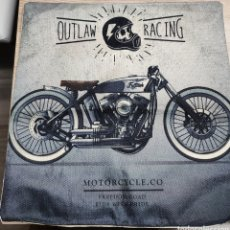 Vintage: FUNDA COJÍN MOTO VINTAGE OUTLAW RACING. Lote 189683238