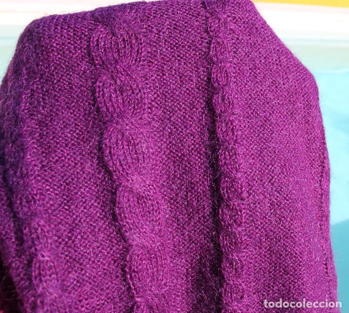 Vintage: Jersey Mango mujer cuello vuelto violeta, efecto muaré - Foto 4 - 190149976