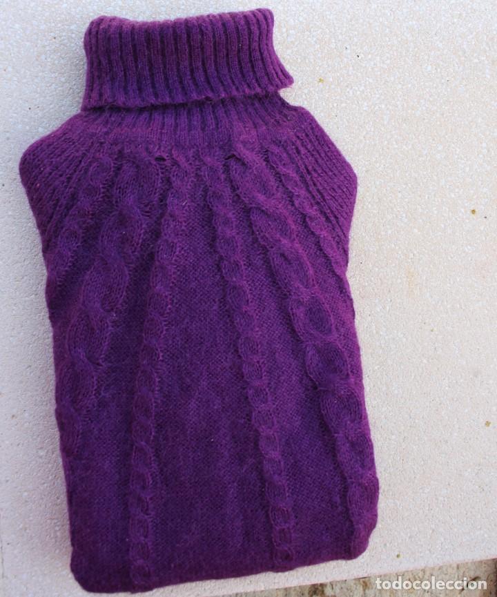 Vintage: Jersey Mango mujer cuello vuelto violeta, efecto muaré - Foto 5 - 190149976