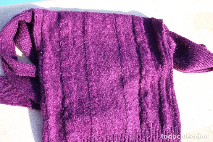 Vintage: Jersey Mango mujer cuello vuelto violeta, efecto muaré - Foto 6 - 190149976