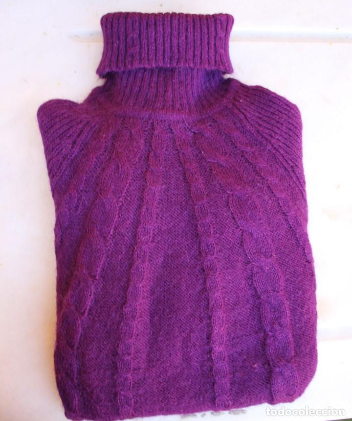 Vintage: Jersey Mango mujer cuello vuelto violeta, efecto muaré - Foto 8 - 190149976
