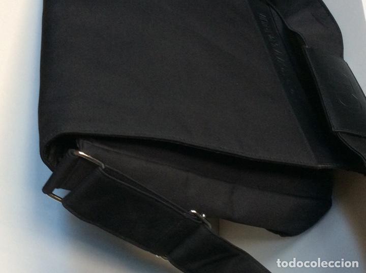 Vintage: Envío 12€. Bolso/bolsa DIOR HOMME PARFUM de lona y poli piel negra de 40x30x8cm sin usar - Foto 3 - 190345335