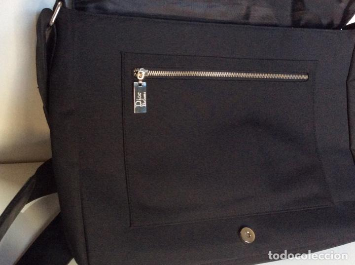 Vintage: Envío 12€. Bolso/bolsa DIOR HOMME PARFUM de lona y poli piel negra de 40x30x8cm sin usar - Foto 4 - 190345335