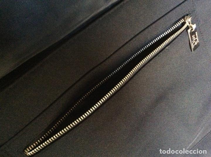 Vintage: Envío 12€. Bolso/bolsa DIOR HOMME PARFUM de lona y poli piel negra de 40x30x8cm sin usar - Foto 5 - 190345335