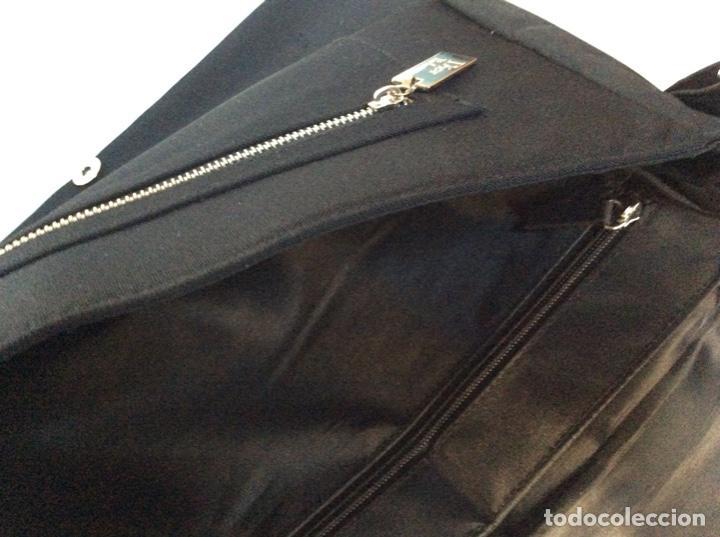 Vintage: Envío 12€. Bolso/bolsa DIOR HOMME PARFUM de lona y poli piel negra de 40x30x8cm sin usar - Foto 6 - 190345335
